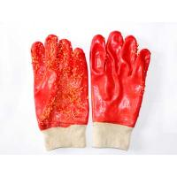 Quality PVC coated knit wrist anti-acid safety glove for sale