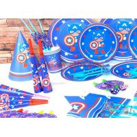 Wholesale Captain America New Kids Birthday Party Decoration Set Birthday brown bear Theme Party Supplies Baby Party set from china suppliers