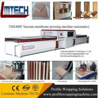 Wholesale pvc carved wooden cabinet doors vacuum membrane press machine from china suppliers