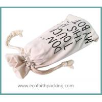 Wholesale cotton bottle drawstring bag, canvas drawstring bag for bottle from china suppliers