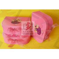 Wholesale Girls Pink Kraft Paper Jewelry Box Personalized Glossy Lamination from china suppliers