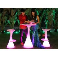 Wholesale Waterproof LED Bar Tables with Infrared Remote Control , Illuminated Cocktail Table from china suppliers