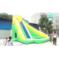 Wholesale Professional Durable 0.55mm PVC Tarpaulin Inflatable Sports Games Green Slide  from china suppliers