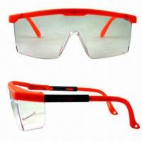 Wholesale Industrial Safety Glasses with Polycarbonate Frames and Adjust Arms from china suppliers