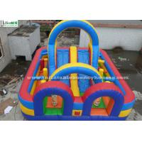 Wholesale Colorful Inflatable Obstacle Course With Slide For Kids Paradise from china suppliers