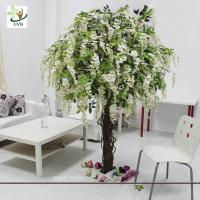 Wholesale UVG CHR047 Trees for Wedding white wisteria flowers home garden decoration from china suppliers