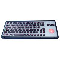 Wholesale Robust IP65 backlit industrial  keyboard with polymer keys, with backlit trackball from china suppliers