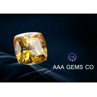 Wholesale Forever Brilliance Diamond Cushion Cut Moissanite Yellow 10mm from china suppliers