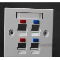 Wholesale Telecom Standard 4-Port RJ45 Face Plates 86x86 Type RoHs ABS Material Networking Four Ports AMPTYPE Face Plate from china suppliers