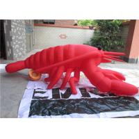 Wholesale Silk Printing Large Inflatable Model Customized Red Inflatable Lobster from china suppliers