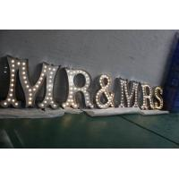 Wholesale LED Lighted Channel Letter Signs , Battery Powered Marquee Letters And Numbers from china suppliers