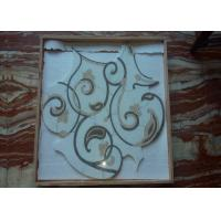 China High Consistence Natural Stone Mosaic Tile Floral Mural With Another Grout Installation on sale