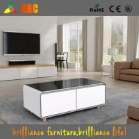Wholesale 2017 New Arrivals Square Smart Coffee Table with a Built-in Fridge and Bluetooth Speakers from china suppliers