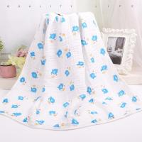 Quality Custom Muslin Cotton Wrap Bamboo Fabric Baby Swaddle Blankets With Warped Knitting for sale