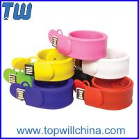 Wholesale Fashion Silicone Clap Wristband 8GB 16GB Thumb Drive for Kids from china suppliers