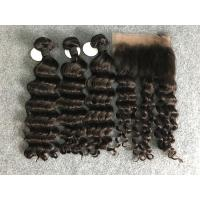 "Wholesale 100% Human Hair Weave Brazilian Virgin Hair Loose wave With Frontal 10""-30"" from china suppliers"
