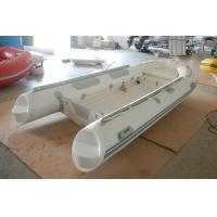 Wholesale 390cm Semi - Rigid Inflatable RIB Boats Fiberglass Hull Light Grey Color from china suppliers