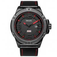 Buy cheap Wholesale Smael Men Simple Fashion Texture Dial Genuine Leather Band Waterproof 30m Quartz Watch 1313 from wholesalers