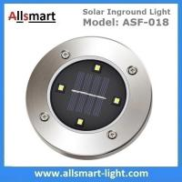 Wholesale 4LED Round Solar Inground Light Solar Underground Accent Lamp for Plaza Garden Landscaping Stainless steel Lampshade from china suppliers