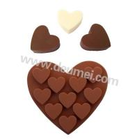 Wholesale 10 Cavities High Grade Heart Shape Silicone Chocolate Mold For Valentine's Day from china suppliers