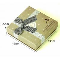 Wholesale Cardboard Personalised Jewelry Gift Boxes For Necklaces Brown Color from china suppliers