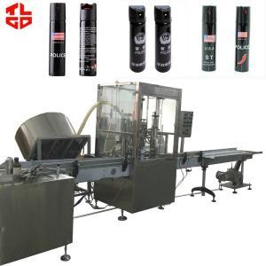 Wholesale Pepper Spray Aerosol Bottle Filling Machine , Cosmetic Spray Filling Machine from china suppliers
