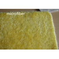 Quality 40 * 60 cm Yellow Beautiful Microfiber Dust Mop Fleece Bathroom Anti - skid Rubber Mat for sale