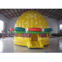 Wholesale Yellow Giant Inflatable Bouncer Castle Hamburger Shaped 0.55 PVC Tarpaulin from china suppliers