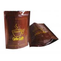 Wholesale Brown Gravure Printing Stand Up Pouch Coffee Tea Bags Ziplock Customizable from china suppliers