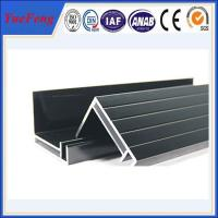 Wholesale supply aluminum angle extrusion, high quality solar panels supporting rod aluminium profil from china suppliers