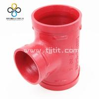 Wholesale CCC FM UL CE Good quality Reducing Tee 130R  Ductile iron grooved fittings from china suppliers
