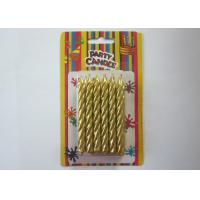 Wholesale Somkeless Gold Birthday Candles Spiral Shaped About 5 Min Burning Time from china suppliers
