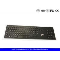 Wholesale Industrial Trackball And Backlight Electroplated Black Metal Keyboard With Full Keys from china suppliers