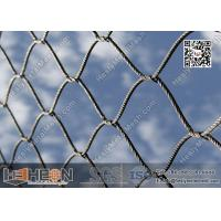 Buy cheap 316L Stainless Steel Cross Knotted Wire Rope Mesh Netting | China Factory Direct Sales from wholesalers