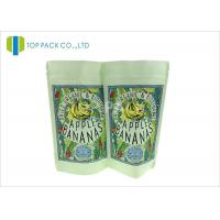 Buy cheap SGS Kraft Paper Stand Up Pouch , Banana Chips Zipper Top Bag Clear Window from wholesalers