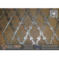 Quality 150X300mm rhombus Aperture Welded Razor Mesh Fence | 1.8mX6.0m | China Razor Wire Factory for sale