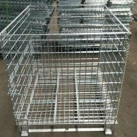 Wholesale Heavy Duty 50mm Galvanized Welded Metal Storage Cages for Transportation from china suppliers