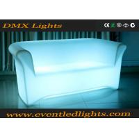 Wholesale Color Change RGB LED Sofa / Battery Operated Light Sofa Set With Remote Control , Eco Friendly from china suppliers