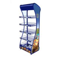Wholesale Modern Single Sided Supermarket Wire Metal Display Rack Floor Standing from china suppliers