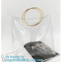 Wholesale pvc shoulder bag girls one shoulder bag for college, transparent handbag tote shoulder PVC sling clear vinyl beach bag from china suppliers