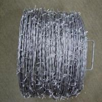 Wholesale Roll Pe Pvc Coated Corrosion Resistant High Tensile Barbed Wire Thickness 0.4mm - 0.6mm from china suppliers