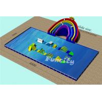 Wholesale 40x20x6m Inflatable Water Park With Big Pool And Slide For Land from china suppliers