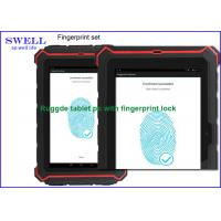 Wholesale 8 Inch red IP67 tablet fingerprint scanner lock IPS NFC Quad Core T82 from china suppliers