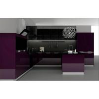 Quality Modern Purple PVC Kitchen Cabinet for sale
