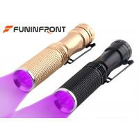 Wholesale Portable Black Light FlashlightWith Stainless Steel Clip , One Light Mode Uv Light Flashlight from china suppliers