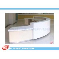 Wholesale Commercial White MDF ARC Reception Desk For Public Service , Student Information Desk from china suppliers