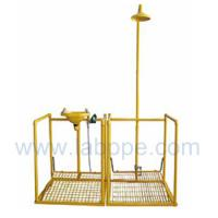 Wholesale SHD100Y-safety Pedaled shower & eyewash station with railing,SS304/G.I. from china suppliers