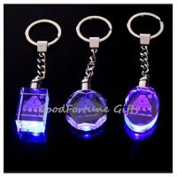 Wholesale promotion gift Crystal Colourful Keychain With Light from china suppliers