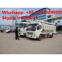 Buy cheap China best price 6tons hydraulic discharging poultry feed truck for sale, 5-7tons farm-oriented and livestock feed truck from wholesalers