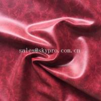 Wholesale OEM PU Synthetic Leather Embossed Crazy Horse PVC Synthetic Leather for Shoes / Bags from china suppliers
